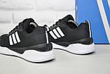 Мужские дышащие кроссовки черные на белой подошве в стиле Adidas Climacool, фото 2