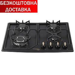 Газовые варочные поверхности  PFE 641 BLACK RUSTICO Черный