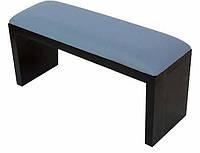 Підлокітник для манікюру підставка для руки дерево + шкірзам КОЛІР блакитний + чорний, фото 1