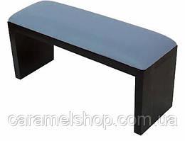 Підлокітник для манікюру підставка для руки дерево + шкірзам КОЛІР блакитний + чорний