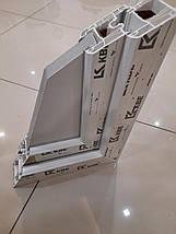 Трехстворчатое ПВХ окно KBE 58 с фрамугой, фото 3