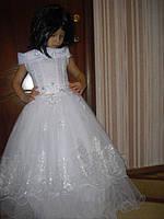 Детское нарядное платье с блесткой