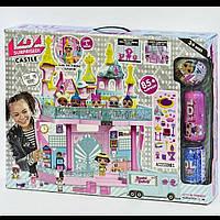 """Кукольный домик """"LOL"""" К 5627 A двухэтажный замок со световыми и звуковыми эффектами, 3 куклы"""