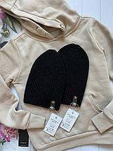 Демисезонная детская вязаная шапочка ручной работы для девочки и мальчика весна и осень.