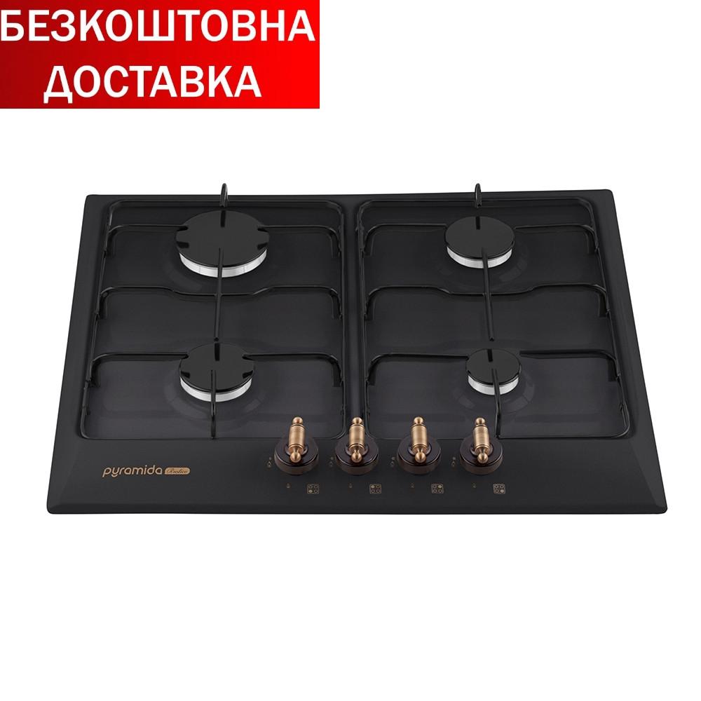 Газові варильні поверхні PFE 644 BLACK RUSTICO Чорний