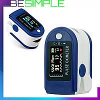 Пульсоксиметр беспроводной Pulse Oximeter / Пульсометр оксиметр на палец + Подарок крепления на руку