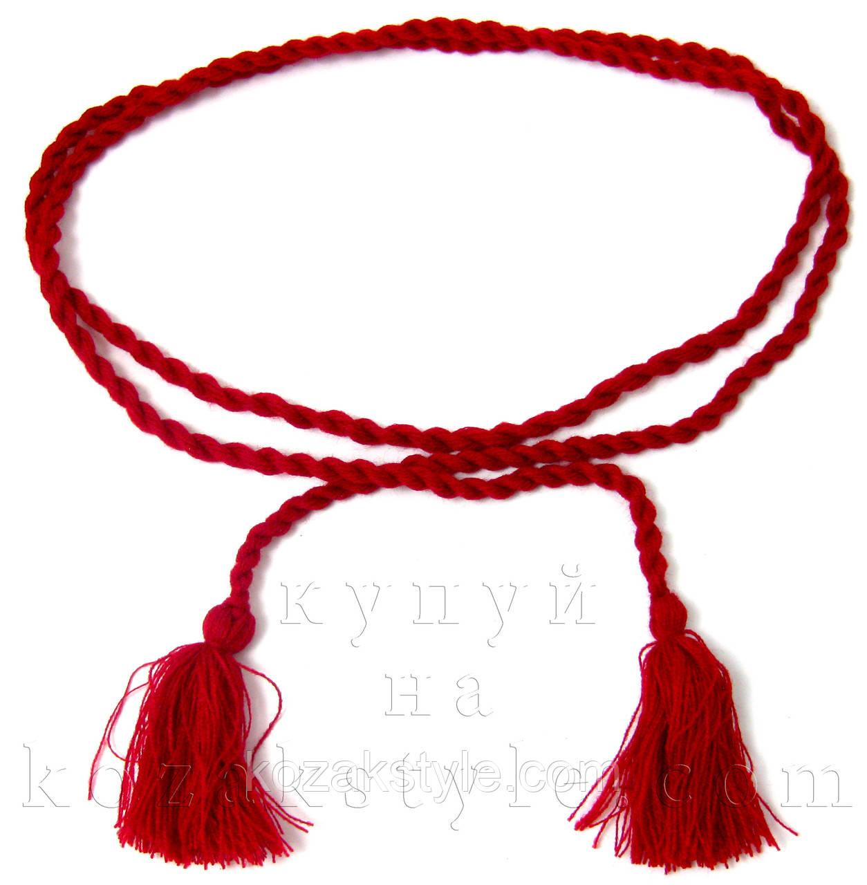 Пояс до вишиванки червоний