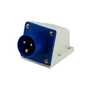 Вилка силова стаціонарна ENERGIO 513(2P+PE) 16A 220В IP44