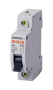 Модульний автоматичний вимикач ENERGIO SP 1P C 6А 4.5кА