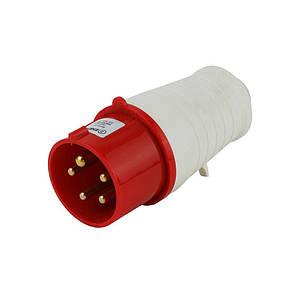 Вилка силова переносна ENERGIO 025(3P+PE+N) 32A 380В IP44