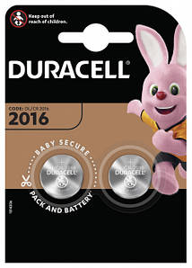 Батарейка DURACELL DL2016 DSN (2шт/блистер)