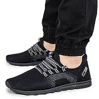 Легкие кроссовки на лето мужские черные из сетки Progres 1391333943