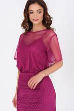 Сетчатая блуза