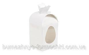 Коробка для великодніх пасок, білий мішечок 110х110х140