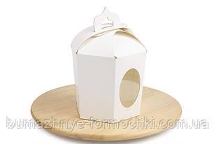 Коробка для великодніх пасок, 6 граней (білий)