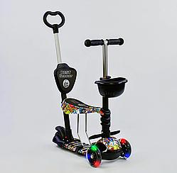 Самокат 5в1 34760 Best Scooter, АБСТРАКЦИЯ, PU колеса, ПОДСВЕТКА КОЛЕС