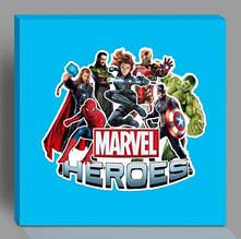 Наклейка на коробку сюрприз Герои Марвел Мстители