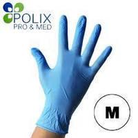 Перчатки нитриловые голубые Polix M (100 шт/уп)