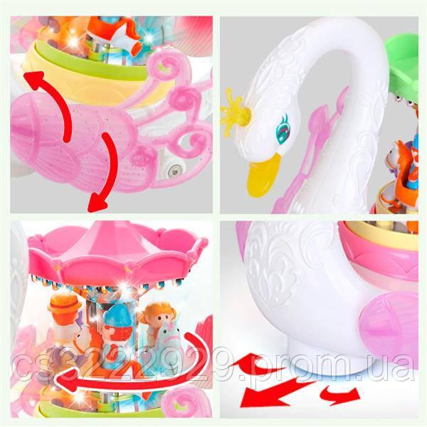 Музична іграшка Hola Toys Лебідь-карусель (536)