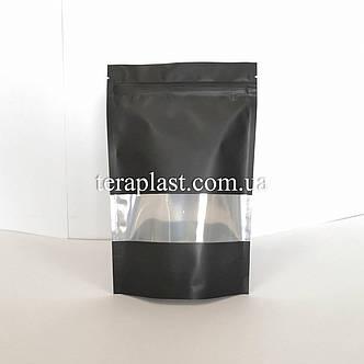 Дой-Пак 150г черный+окно 130х200 с зип замком, фото 2
