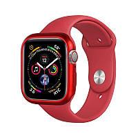 Магнитный чехол Coteetci красный для Apple Watch 4/5/6/SE 44mm