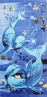 Пляжное полотенце Дельфины с рыбками