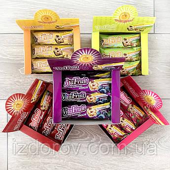 Витаминные батончики-мюсли VitaFruit, Шоубокс 12 шт в упаковке, 5 вкусов на выбор