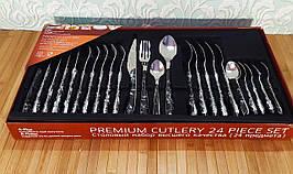 Набор столовых предметов 24 шт   Набор столовых приборов   Столовый набор ложки, вилки, чайные ложки.