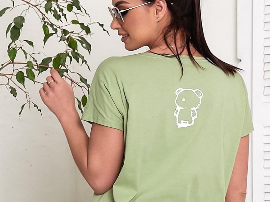 Жіноча футболка, бавовна, р-р універсальний 48-54 (оливковий)
