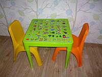 """Набор детской пластиковой мебели """"Алфавит"""". Разные цвета."""