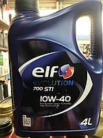 Моторное масло полусинтетика Elf(эльф) Evolution 700 STI 10W-40 4л