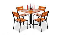 """Комплект садовой мебели """"Рио"""" стол (80*80) + 4 стула Тик, фото 1"""
