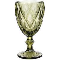 Набор винных бокалов из цветного стекла Изумруд 320мл 6шт 6444