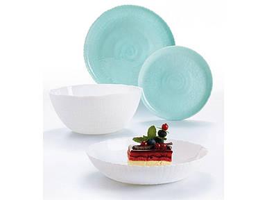 Столовый сервис Luminarc Ammonite Turquoise & White P9909 (19 предметов)