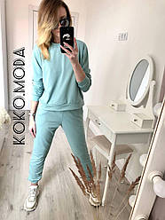 Кери женский спортивный прогулочный костюм для дома на прогулку фисташковый