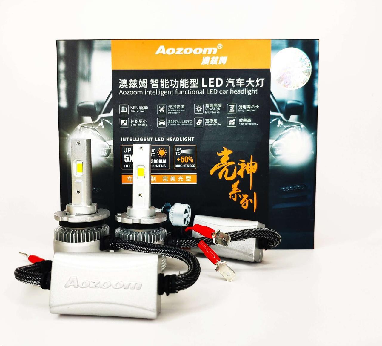 LED автолампи діодні Аozoom D1S D2S D3S D4S прожектор для лінз Canbus 80Вт 8400Лм 5500K 12В