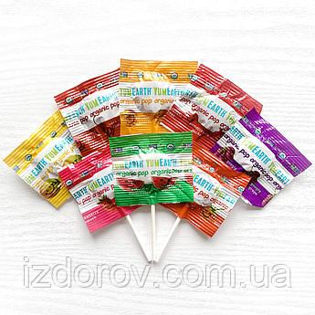 YumEarth, Organic Pops, натуральные фруктовые леденцы на палочке, ассорти 8 вкусов, поштучно 1 шт