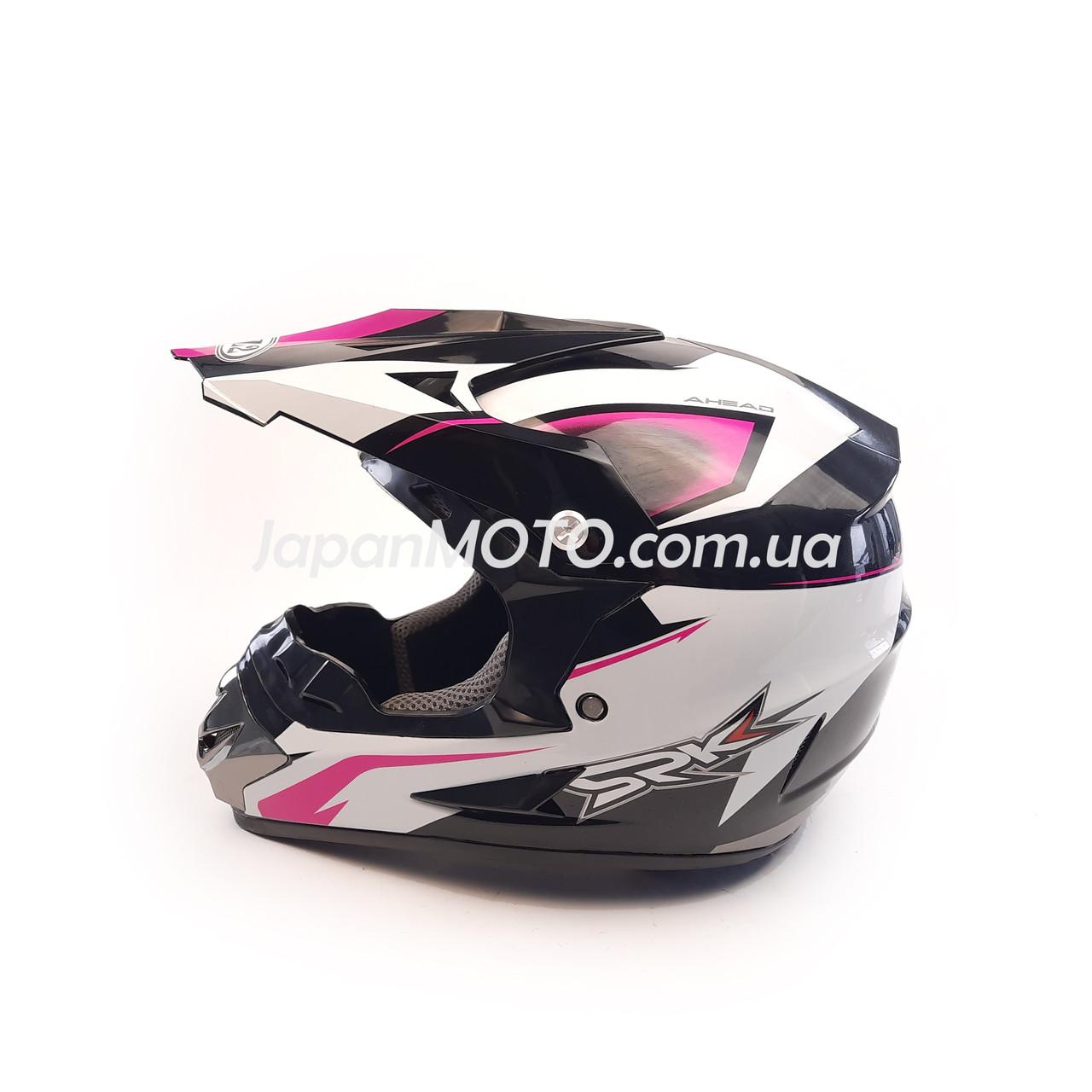 Шлем кроссовый FOX (size: XL, 125) черно-белый