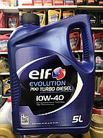 Моторное масло полусинтетическое Elf(эльф) Evolution 700 Turbo Diesel 10W-40 5л