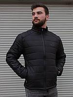 Мужская демисезонная куртка черная Puma | курточка короткая стеганная весна-осень