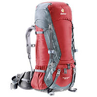 Рюкзак Deuter Aircontact, 55 + 10 л, cranberry-titan