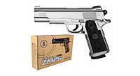 Дитячий іграшковий Пістолет на пульках ZM25, металевий
