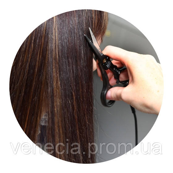 Чистка волос горячими ножницами