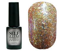 Гель-лак для ногтей Naomi Self Illuminated №06 Плотный желто-золотистый с блестками и слюдой 6 мл