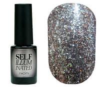 Гель-лак для ногтей Naomi Self Illuminated №07 Плотный бронза с блестками и слюдой 6 мл