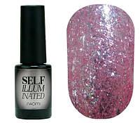 Гель-лак для ногтей Naomi Self Illuminated №11 Плотный нежно-розовый с блестками и слюдой 6 мл