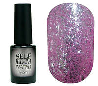 Гель-лак для ногтей Naomi Self Illuminated №13 Плотный сиреневый с блестками и слюдой 6 мл