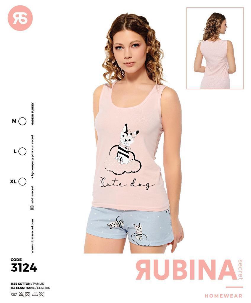 """Жіночі піжами,комплекти(шортики з майкою)""""RUBINA"""" Туреччина  Art-3124"""