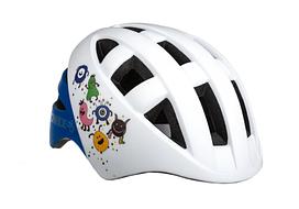 Велосипедный детский шлем ONRIDE Bud S 48-52 Белый с синим