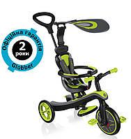 Велосипед-біговел Globber Explorer Trike 4in1 Lime Green (салатовий), фото 1